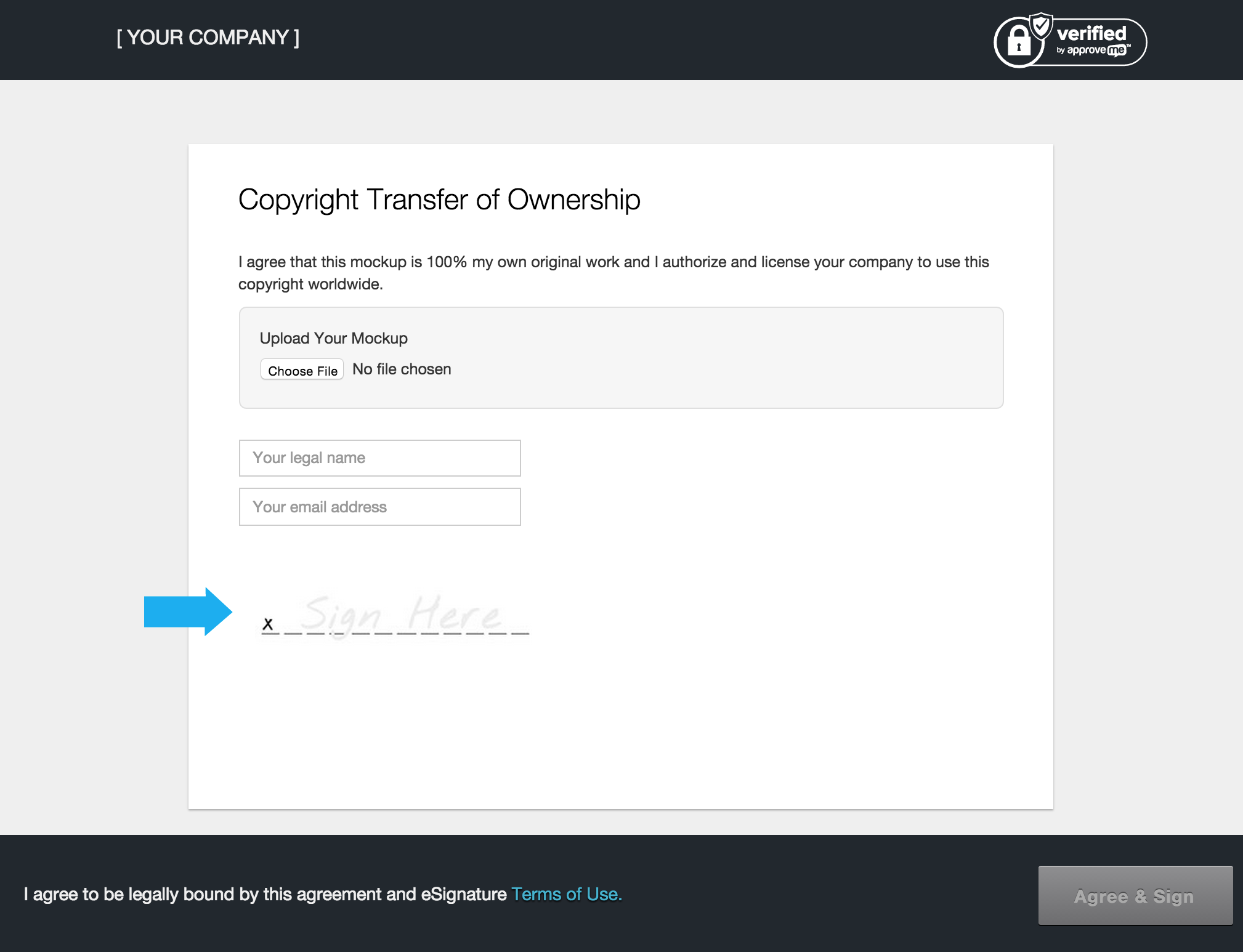 wordpress file upload added wp esignature custom fields